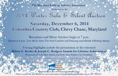 Winter Gala & Silent Auction Dec. 6