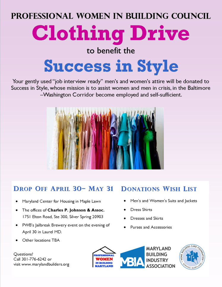 Clothing Drive Flier 2019